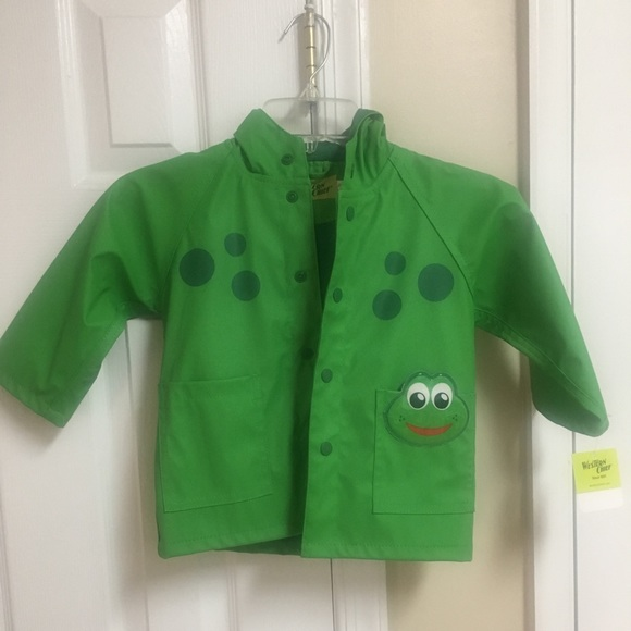 5d2cd060e Western Chief toddler frog raincoat - size 2T NWT